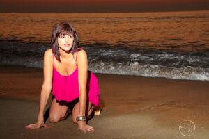 séance photo glamour sur la plage d'Anglet après le coucher de soleil par Fabien Ferrère photographe Pau, Navailles-Angos, Serres-Castet, Anglet, Biarritz, Hossegor
